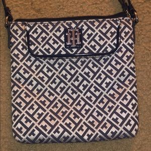 Blue and silver Tommy Hilfiger cross body bag